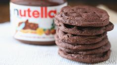 Only 3 ingredients stand between you and decadent Nutella cookies