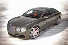 The Bentley Flying Spur in the snow.