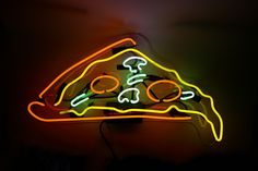 Best food ever. Clean up your wall with this dripping Pizza Slice Neon Sign Our neon glass is handcrafted and filled with a mixture of noble gasses, then electrified to create that iconic neon glow. E