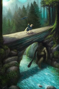 The Troll by ~FrankVenice on deviantART (Ooooh...I like this image. A huge troll under the bridge...just like my imagination says he should look.)