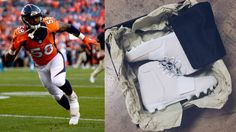 be44c590eacb0 Von Miller Debuts Kanye West Yeezy Cleats. Yeezy Cleats