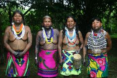 Embera Wounaan women in Sambú panama