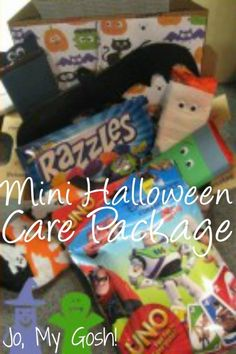 Send trick or treats with a mini Halloween care package!