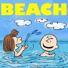 'Beach Day!', Charlie Brown & Peppermint Patty.