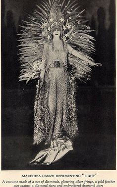 Marchesa Casati 'Light' Costume by House of Worth