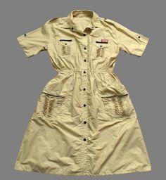 Vintage 80's Safari Dress Retro Boho 12 - 14   eBay