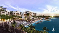 A Town Square on a Purpose-Built Waterfront Master Plan in Mexico  Designed by OBM International