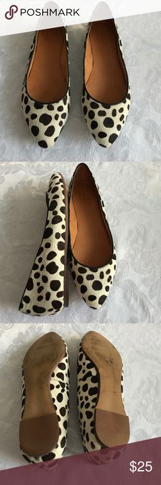 Chic Madewell Ponyhair Flats These marvelous 1937 Madewell flats are made of brown and cream spotted haircalf. Very minimal wear - excellent used condition. Size 7. Madewell Shoes Flats & Loafers
