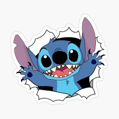 Cute Disney Wallpaper, Wallpaper Iphone Cute, Cartoon Wallpaper, Cute Wallpapers, Stickers Cool, Bubble Stickers, Anime Stickers, Disney Stitch, Lilo Et Stitch