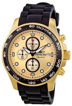 Invicta Signature II Chronograph Gold-tone Mens Watch 7373 ** You can find more details by visiting the image link.