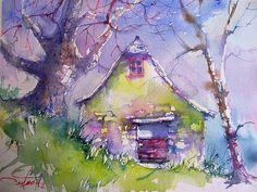 Christian Couteau - la maison du berger / the shepherd's house by chrisaqua47, via Flickr