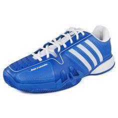 Mens Adipower Barricade 7.0 Clay Tennis Shoes Prime Blue/White