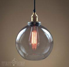 Bola burbuja lámpara de araña de cristal de por HandmadeLampWorks, $58.80