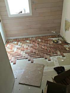 brick flooring Installing a brick tile floor in your home is a great way to give your home that old-world, rustic charm. Installing a brick tile floor is easier than you might think! Brick Tile Floor, Brick Flooring, Kitchen Flooring, Kitchen With Brick Floor, Brick Look Tile, Tile Floor Diy, Diy Flooring, Laying Tile Floor, Installing Tile Floor