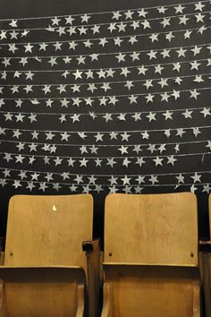 Star strings with vintage theatre seating