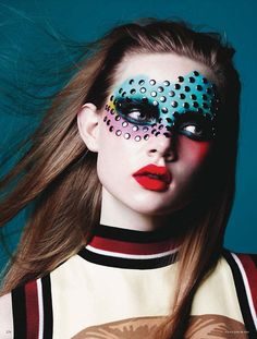 Studded. Holly Rose by Ben Hassett for Vogue Germany January 2014