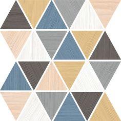 HALSA: Mosaico Halsa Multicolor - 31x30cm.   Revestimiento - Pasta Blanca   VIVES Azulejos y Gres S.A. #wooden #mosaic #coloured