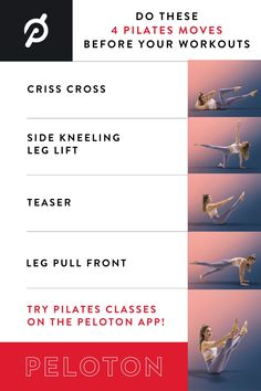4 pre-workout Pilates moves to get you ready to move with power. Pilates Moves, How To Get, Workout, Work Out, Exercise