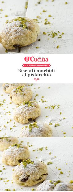 cake and recipes Italian Cookie Recipes, Italian Cookies, Italian Desserts, Sweet Desserts, Sweet Recipes, Italian Biscuits, Pistachio Cookies, Biscotti Cookies, Yummy Cookies