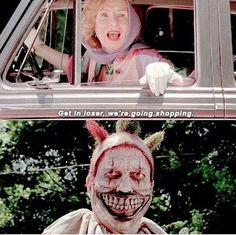 "But we wouldn't have it any other way! | Community Post: Everyone Dressed As Twisty The Clown From ""American Horror Story"" This Halloween And It Was Terrifying"