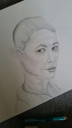 Porträtt teckning