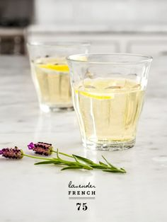 Lavender French champagne cocktail #recipe