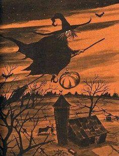 Halloween Shadow Box, Halloween Artwork, Halloween Painting, Halloween Pictures, Fall Halloween, Happy Halloween, Halloween Witches, Halloween Horror, Halloween Stuff