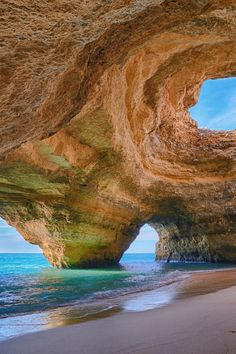 Faro, one of the most beautiful beaches in the Algarve area of Portugal