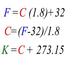 Celsius Farenheit Kelvin Conversion Equations. Basically 0