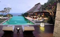 Poolside Villa with a view. Gorgeous! BULGARI HOTEL BALI http://www.thedaysofthechic.com/blog/2015/1/13/bulgari-set-to-open-fifth-luxury-hotel-in-beijing