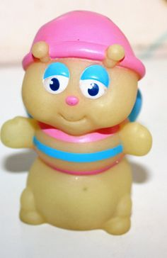1980s GLO BUG pvc figure Butterfly glow Hasbro by Pooyabee, $6.75