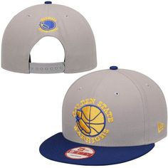 53b66305ffd Golden State Warriors New Era Team Secondary Logo 9FIFTY Snapback  Adjustable Hat - Gray