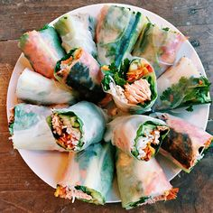 This Salmon Spring Rolls Recipe is a delightful dish made with leftover salmon and fresh veggies, for a perfect weeknight dinner!