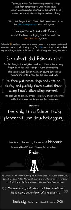 Why Nikola Tesla was the greatest geek who ever lived (and Thomas Edison was a douchecanoe) - The Oatmeal