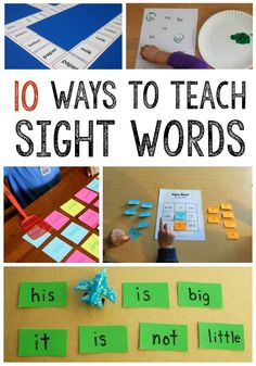 10 ways to teach sight word!