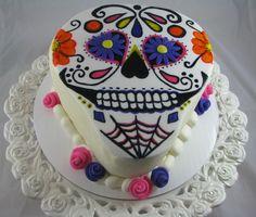 DIA DE LOS MUERTOS/DAY OF THE DEAD~Sugar Skull Cake