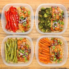 One-Pan teriyaki chicken meal prep recipe food здоровая еда, Lunch Meal Prep, Healthy Meal Prep, Healthy Eating, One Pan Meal Prep, Healthy Food, Week Lunch Prep, Fitness Meal Prep, Meal Preparation, Meal Prep Bowls