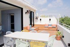 Nordau Blue | Tel Aviv Holiday Rental Boutique Rooftop Apartment | Rooftop Terrace, Tel Aviv, Rental Apartments, Sun Lounger, Restaurant, Patio, Boutique, Outdoor Decor, Holiday