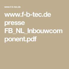 www.f-b-tec.de presse FB_NL_Inbouwcomponent.pdf