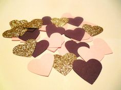 Plum Wedding Confetti Plum Blush Gold by SignsationalSayings