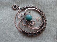 Создаем кулон с круговым плетением в технике wire wrap - Ярмарка Мастеров - ручная работа, handmade