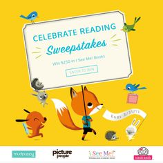 """#Parents win a $250 @ISeeMeBooks Gift Certificate and prize package in the """"Celebrate Reading"""" Sweepstakes!"""