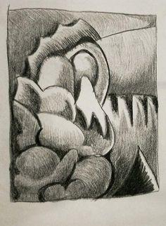 On the corner near the Hillside. Pencil on paper. Chuck Boyer