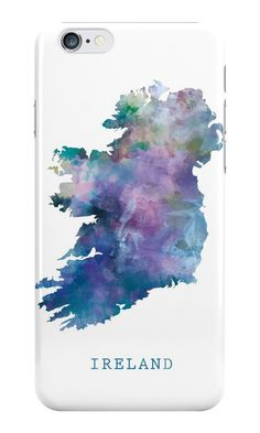 Ireland   #ireland #irish #europe #state #map #art #print #iphone #cases #skins #s6 #plus #edge #tech #gift #ideas #watercolor #abstract #minimalist #modern #colorful #travel #country #typography #geography #celtic