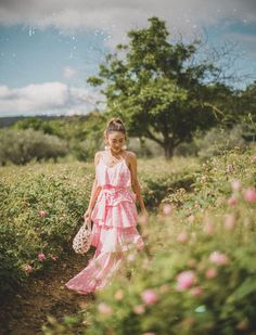 #Garden #Soiree - #Travel in #Style - Chic #travel #outfits, #pink #sundress, #tiered dress, #ruffle dress, best #summer dresses, summer travel outfits by #Notjessfashion.com