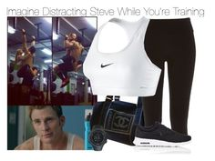 """""""Imagine Distracting Steve While You're Training"""" by fandomimagineshere ❤ liked on Polyvore featuring SIGG, Chanel, Suunto, River Island and NIKE"""