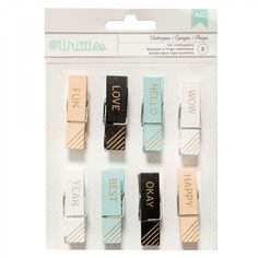 American Crafts word pegs - pack of 8