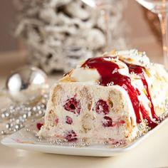 Mascarpone raspberry trifle for christmas dessert