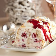 Mascarpone raspberry trifle for christmas dessert