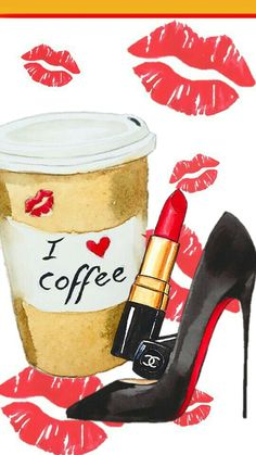 I love coffee- red lipstick high heels I love coffee- red lipstick high heels - Unique Wallpaper Quotes